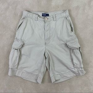 Polo By Ralph Lauren Mens Khaki Cargo Shorts Sz 31
